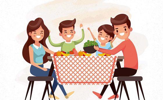 Hora de comer en familia