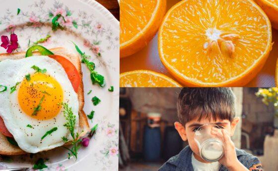 DESMONTANDO MITOS: El huevo, la leche de vaca y la naranja.